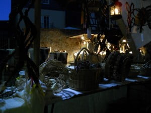 Mittelalterfest Büdingen 2015 Ambientebeleuchtung vom Marktstand