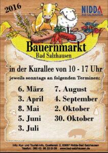 Alle Termine 2016 zum Bauernmarkt Bad Salzhausen